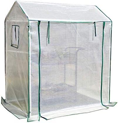 ビニールハウス 大型家庭用温室テント、サイド換気機能付き科植物生育室、防水PE温室テント、130×90×150CM