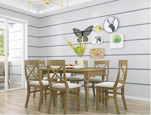 Ayzr Thick Non-Woven Suede Wallpaper 3D Stereo Striped Bedroom Living Room Tv Backdrop Wallpaper,Gray (Texture Wallpaper Suede)