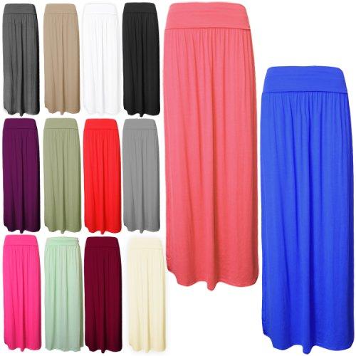 les disponibles sont de SE Tour sur Taille Violet taille en couleur Viscose Jersey toutes et Jupe femmes Liste Pour Maxi Long replie UpgOOT