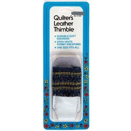 Skin Thimble - Quilter's Soft Leather Thimble By Collins #C125, Sewing & Quilting Tool