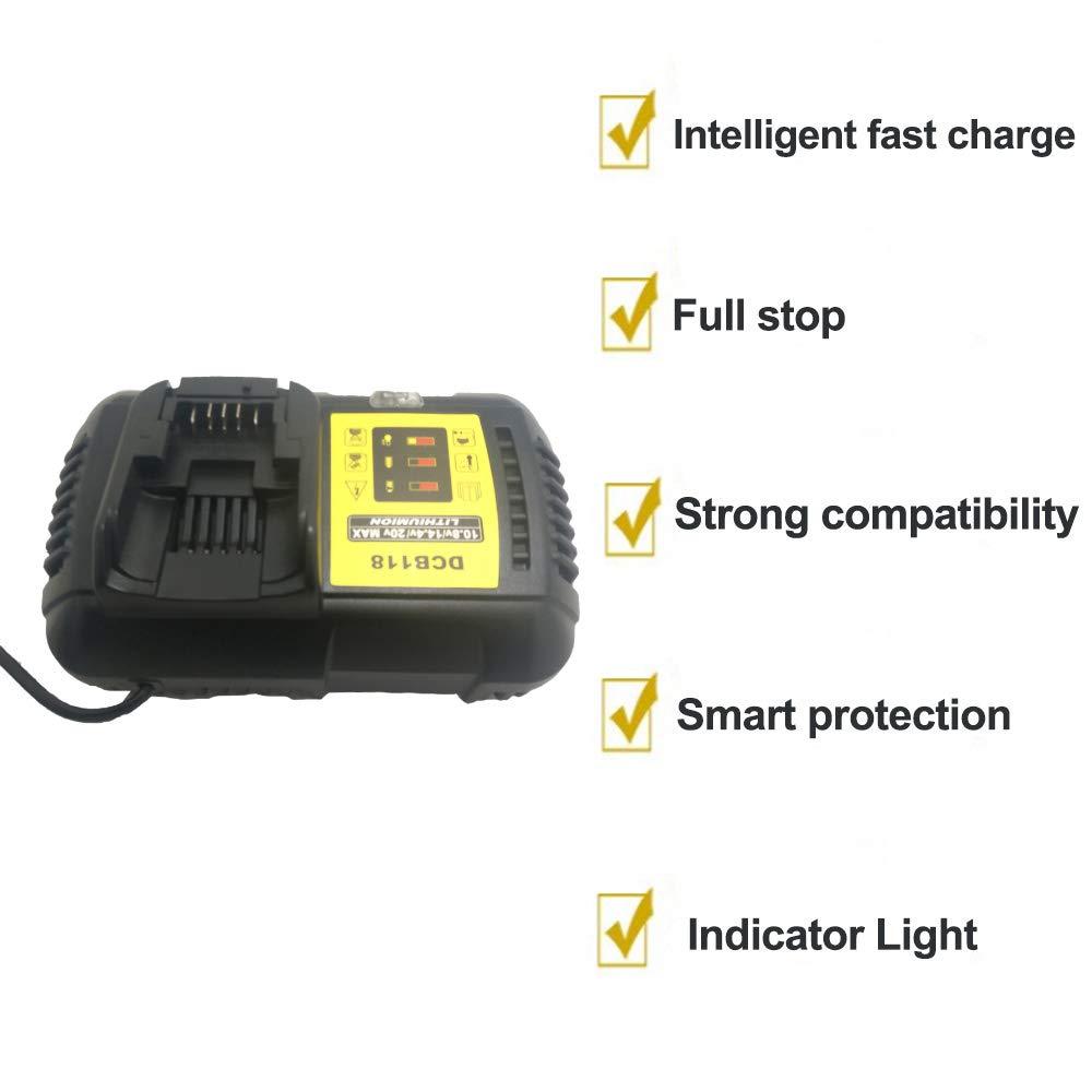 DCD118 Battery Charger AC100-240V for DEWALT DCD996 DCD991 DCS575 DCS576 DCS575 DCS520 DCD996 DCH481 DCB118 DCS388 Charger - - Amazon.com