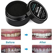 Creazy Teeth Whitening Powder Natural Organic Activated Charcoal Bamboo Toothpaste...