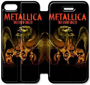 5 5s Cover,[Pu Leather Cover] Metallica Theme New iPhone 5 5s Case Cover KA6307
