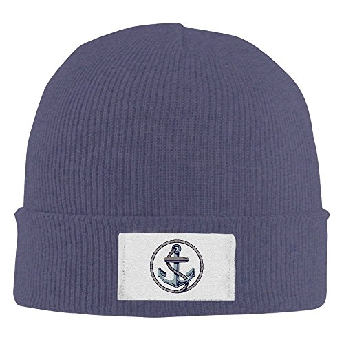 Anchor Symbol Winter Warm Knit Hats Skull Caps Stretchy Cuff