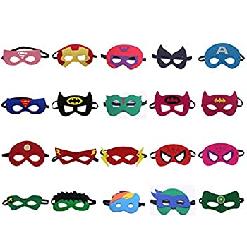 QWER Superheroes Party Masks for Children, 20 Piece