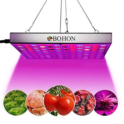 BOHON LED Grow Light, 45W Panel Grow Lamp Full Spectrum with IR UV LED Grow Lights for Indoor Plants, Seedling, Vegetative and Flowering (Best Light For Marijuana Seedlings)