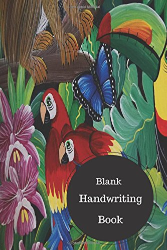 Blank Handwriting Book: Cursive Writing For Kids Worksheets. Handy 6 in by 9 in Notebook Journal 100 Pages