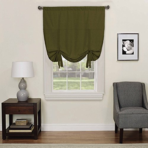 Eclipse 16170042X063ART Kendall 42-Inch by 63-Inch Blackout Window Single Tie-up Shade, Artichoke - Artichoke Windows