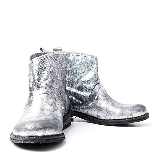 Felmini - Damen Schuhe - Verlieben Gredo 8264 - Stiefeletten - Echte Leinwand - Schwarz