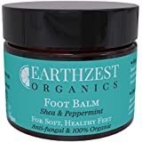 Foot Cream - Best For Cracked Heels, Hard Skin, Athletes Foot & Fungal Nail (Safe for Diabetics Feet) - As Seen in Daily Mail - 100% Organic Skin Care - All Natural Chemical Free Antifungal Barrier Cream To Help Dry, Itchy, Irritated Skin - Reduces Redness & Pain (Antibacterial & Anti-Inflammatory) - Handmade By Earthzest Organics UK - 50ml Travel Size - Ideal Gift - Love it or Your Money Back!