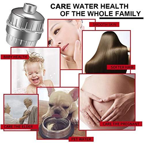 Shower Filter, 15-Stage High Output Luxury Universal Shower Filter (Chrome) with Replaceable Filter Cartridge Prevents Hair and Skin Dryness, Remove Chlorine and Heavy Metals, Soften Hard Water by Billion Xin (Image #5)