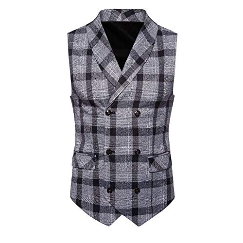 SMALLE ◕‿◕ Clearance,Men Button Casual Print Sleeveless Jacket Coat British Suit Vest Blouse by SMALLE
