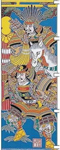 [大畑の武者絵幟][節句のぼり][武者絵のぼり]太閤秀吉[4.1m](巾0.88)杭打込み式[ポールフルセット]家紋1ケ入り[日本の伝統文化][五月人形]