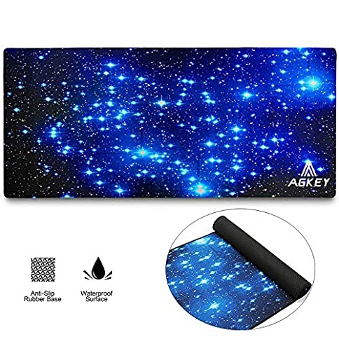 - 51eIR7G 1bL - Large Gaming Mouse Pad Extended Mousepad Mouse Pat with Durable Stitched Edges Game Mouse Mat Ideal for Desk Cover, Computer Keyboard, PC and Laptop (30.7×11.8×0.12IN) (Star Sky)