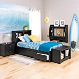 Black Twin Mate's Platform Storage Bed with 3 Drawers