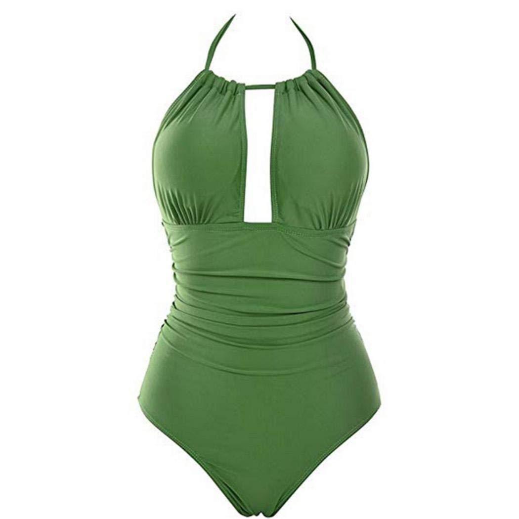Meflying Women Halter Neck Sleeveless Summer One-Piece Swimsuit Swimwear One-Piece Suits