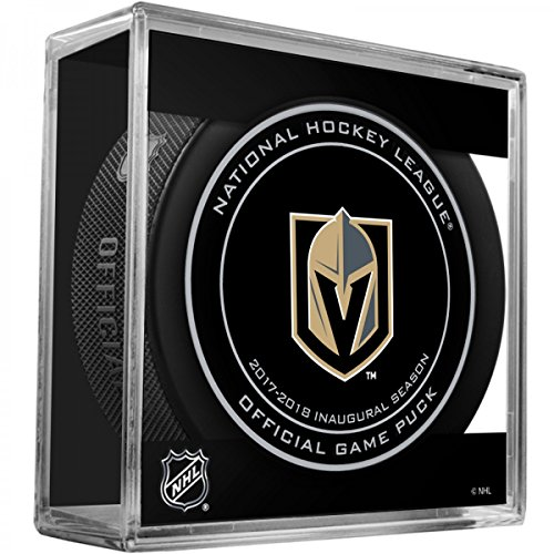 fan products of Las Vegas Golden Knights 2017 Inaugural Season Sherwood Official NHL Game Puck in Cube