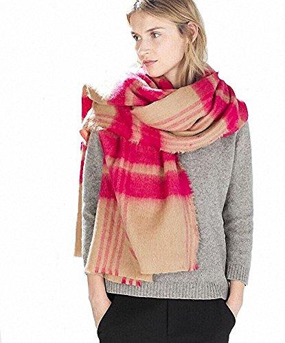 Winter Confortevole con Lattes Lady Sciarpe Check avvolto 9 Lattice Afibi Modello Oversized scialle 5ATWcAq