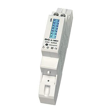 B+G E-Tech DRS155B - LCD digitaler Wechselstromzähler Stromzähler ...