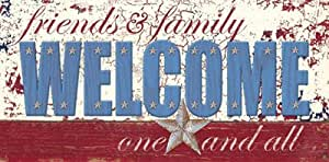 Zig Zag Art - Patriotic Welcome' Por Sam Appleman - Impresión de alta calidad sobre lienzo (tamaño de imagen 50 cm W x 24.5 cm H x 5 cm P)