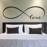 Room:Bedroom Material:PVC Brand:NEW Color:Black Theme:Love & Hearts Style:Modern  Feature: 100% brand new and high quality. Quantity:1PC Non-toxic, environmental protection, waterproof Size:About 22*60CM Material:PVC  Can be applied to any smooth...