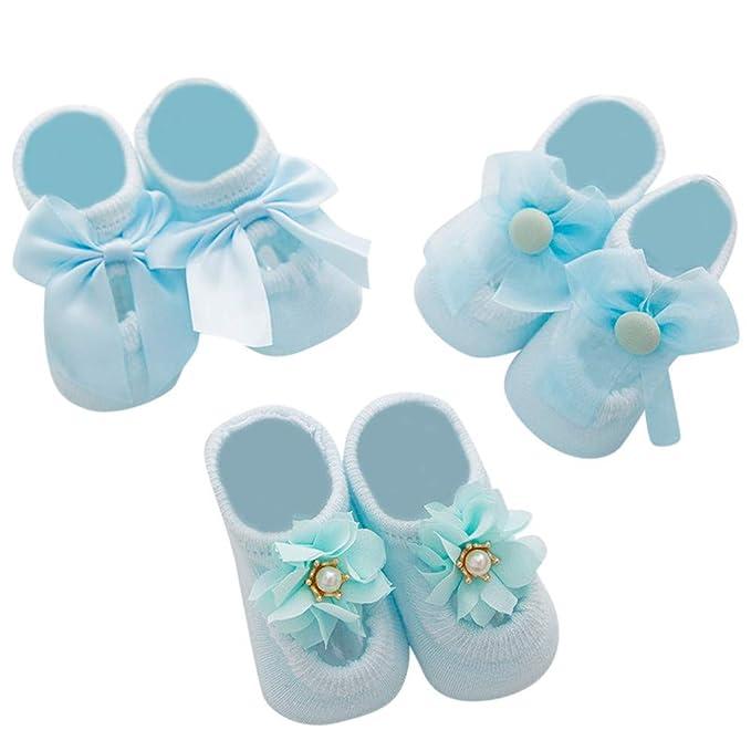 Sencillo Vida 3 Pares Calcetines para Bebe Recién Nacido Calcetines ...