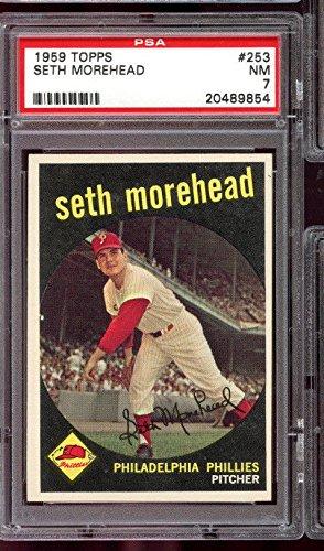 Morehead Phillies Pitcher PSA 7 NM Graded Baseball Card ()