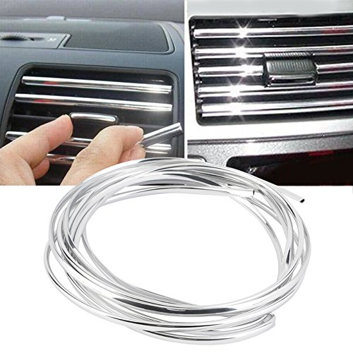 4metres x 6MM U Shape Custom Chrome Plated Moulding Trim Strip auto Interior Decoration for Car Air Vent Outlet Door Grille Switch - Custom Interior Trim