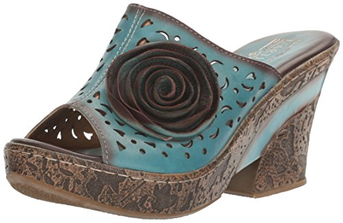 outlet real for sale the cheapest L'Artiste by Spring Step Women's Amara-Blu Wedge Sandal Blue clearance new arrival sale real rutKBe3a
