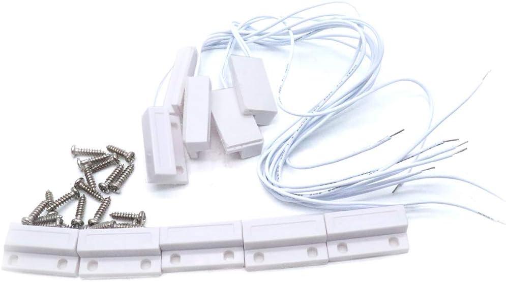 5 Surface Alarm Door//Window Contact Alarm Sensors