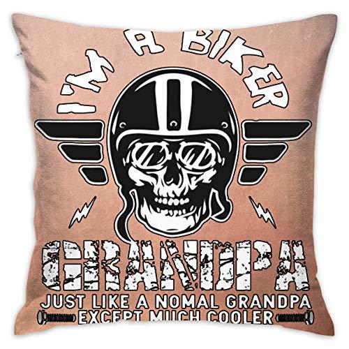 Lolpdd I'm A Biker Grandpa Motorcycle Throw Pillow 18-18