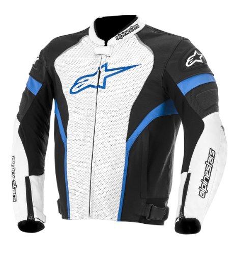 Alpinestars GP Plus R Perforated Leather Jacket, Gender: Mens/Unisex, Primary Color: Black, Size: 52, Apparel Material: Leather, Distinct Name: Black/White/Blue 3100614-127-52