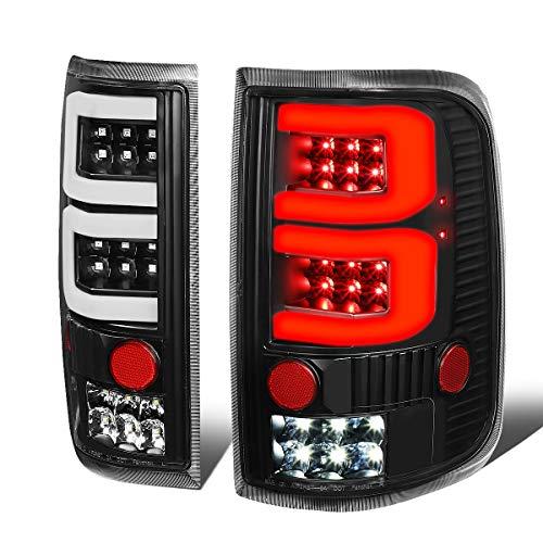 Pair of Black Housing Dual 3D LED Tube Bar Tail Lights Brake/Reverse Lamps for Ford F150 Lobo 04 05 06 07 08