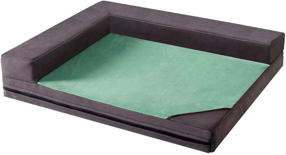 Color : Green, Size : S//58 * 50 * 12cm Waterproof OxfordFabric Luxury Durable Cushion Anti-Slip Machine Washable Tear Resistant Comfort Pad YEXIN Soft Dog Cat Bed Mat