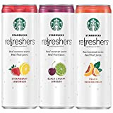 Starbucks, Refreshers with Coconut Water, 3 Flavor