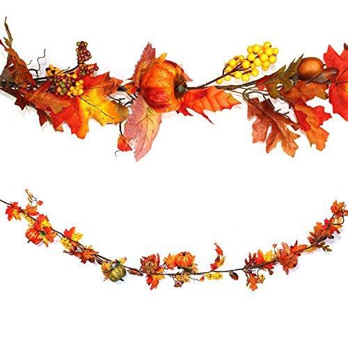Autumn Pumpkin Hanging Garland: Thanksgiving/Halloween Decoration 160cm Robelli