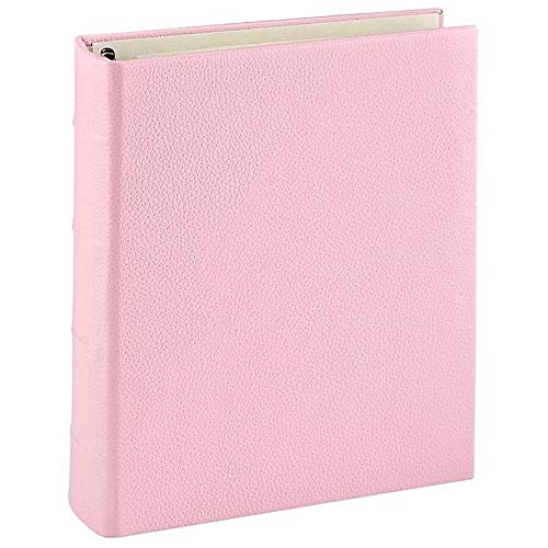 Light-Pink Leather 2-up Clear Pocket 4-Ring Album by Graphic ImageTM - 4x6 by Graphic Image