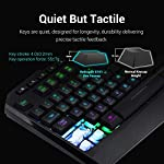 Redragon S101 Wired Gaming Keyboard and Mouse Combo RGB Backlit Gaming Keyboard with Multimedia Keys Wrist Rest and Red…