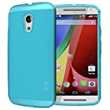 Tudia Ultra Slim Lite TPU Bumper Protective Case for Motorola Moto G 2nd Gen 2014 - Teal