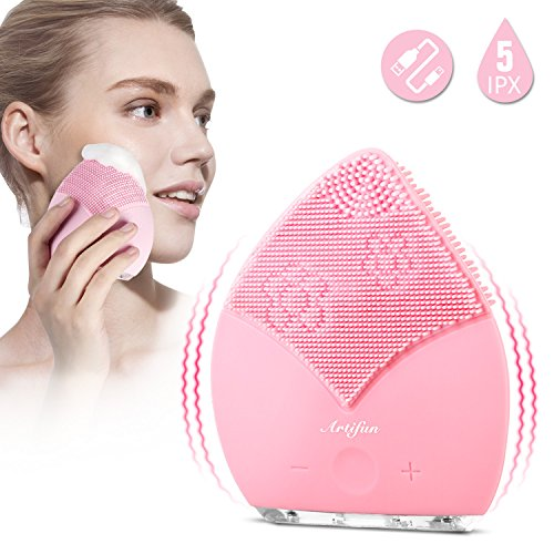 (ARTIFUN Facial Cleansing Brush,Waterproof Silicone Face Brush Revitalising Massager, Deep Cleansing, Exfoliate Smooth Skin for a Radiant Clear Complexion -)