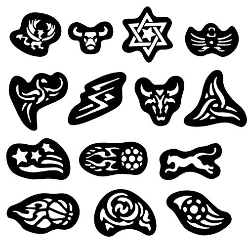 Health & Beauty - Hair Styling Tools - 28pcs Hair Tattoo Template Hair Trimmer Carved Dye Coloring Tattoos Patterns Stencil DIY Salon Barber Tools Isali
