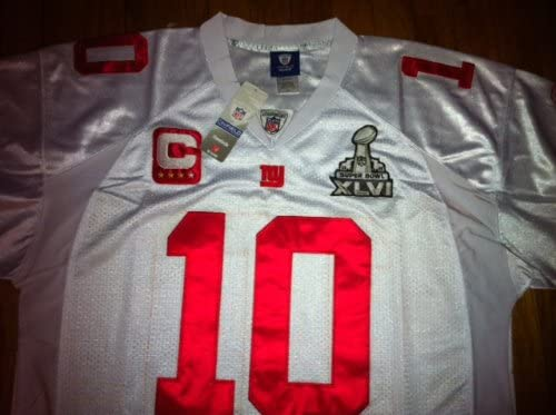 eli manning super bowl jersey with captain patch