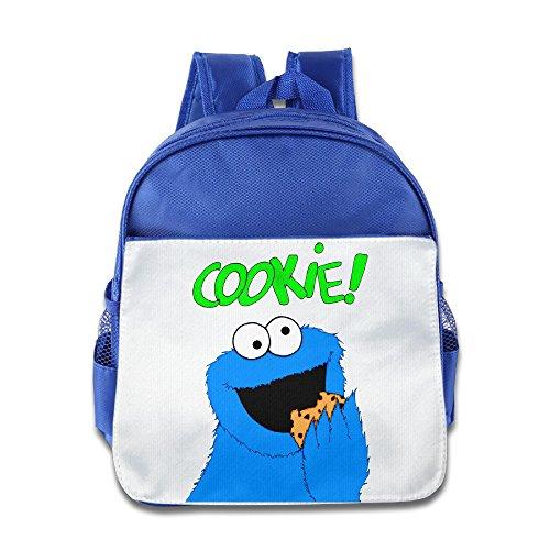 [JXMD Custom Cute Sesame Street Cookie Kids Children School Bagpack For 1-6 Years Old RoyalBlue] (Nerf Boy Costume)