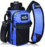 Arca Gear 32 oz Hydro Carrier – Insulated Water Bottle Sling w/Carry Handle, Shoulder Strap, Wallet and Two Pouches – The Perfect Flask Accessory