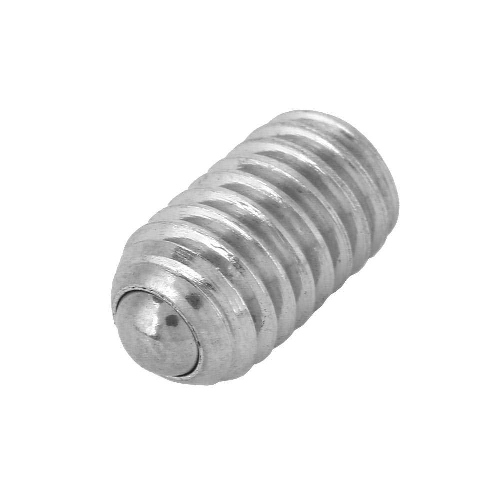 20pcs m6*8//10//12//16//20//25 Stainless Steel Thread Hex Spring Ball Plunger Screw Bead Screw M6*10
