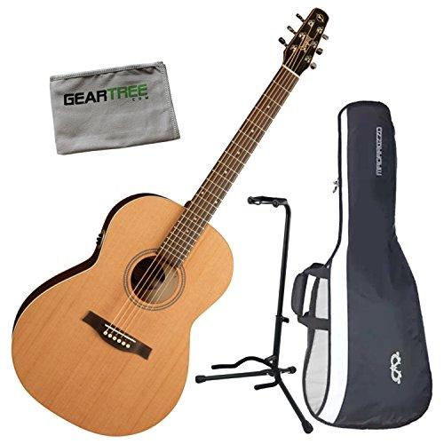 Seagull 032525 Coastline Folk Cedar QIT Acoustic-Electric Guitar w/Cloth, Bag,