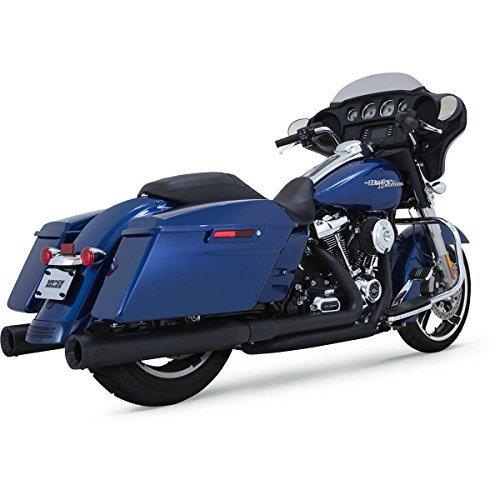 Vance & Hines 47651 Black Dresser Duals for 2017-Newer Harley-Davidson M8 Touring Models - Vance And Hines Harley Davidson