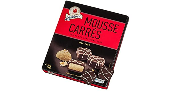 Halloren Mousse Carrés Huevo Licor Chocolates 130 g: Amazon.es: Alimentación y bebidas