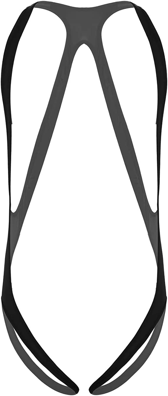 iiniim Mens Suspender One-Piece V Sling Stretchy Thongs Jockstrap Bodysuit Underwear