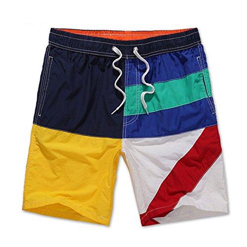 shengshiyujia PZLL Ralph Lauren European Viento Elegantes Pantalones de Playa, los Hombres Rectos Cortos, l